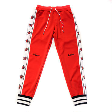 AMOUR  AR STAR JERSEY PANTS / RED
