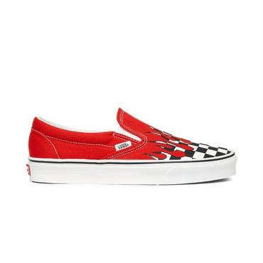 "VANS CLASSIC SLIP-ON ""CHECKER FLAME"" / RACING RED"