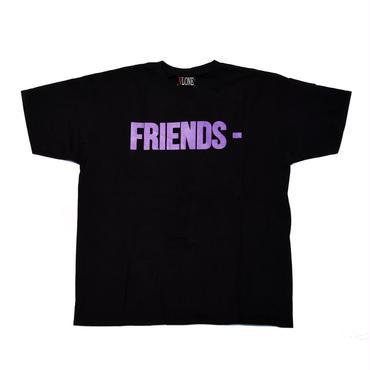 VLONE  FRIENDS TEE / BLACK _ PURPLE