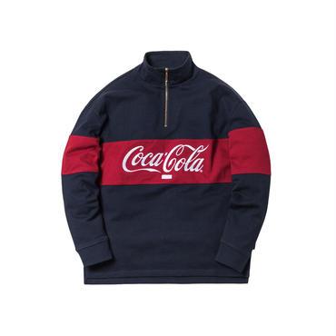 Kith x Coca-Cola Quarter-Zip Rugby /  NAVY
