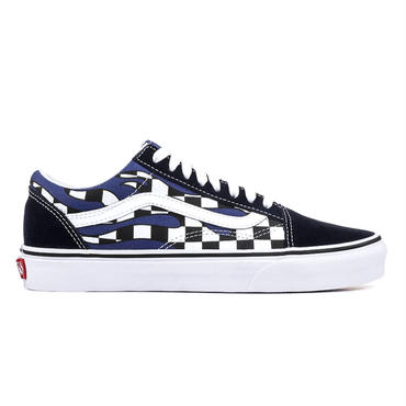 "VANS OLD SKOOL  ""CHECKER FLAME"" / NAVY TURN"