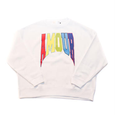 CREW NECK SWEAT QUEST / WHITE_MALTI
