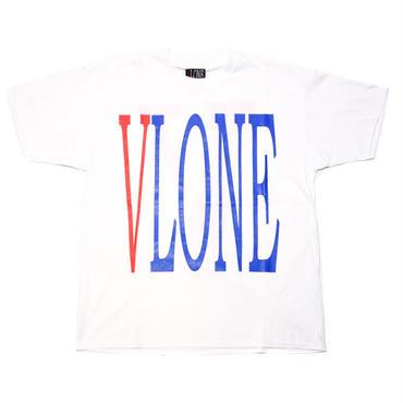 VLONE  LOGO TEE /  WHITE RED_BLUE