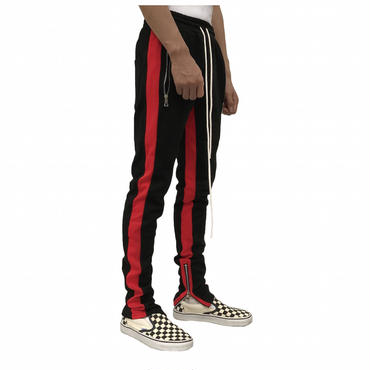 URKOOL Double Striped Track Pants / BLACK