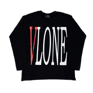 VLONE  LOGO LS TEE / BLACK _ RED