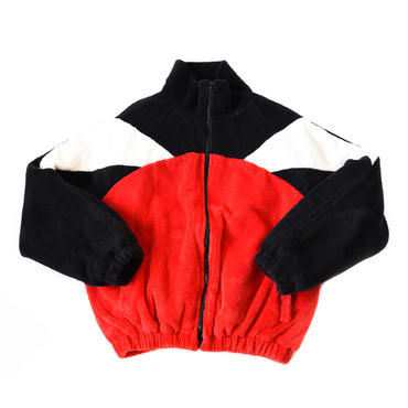 AMOUR ORIGINALS  FUR JACKET / BLACK_RED