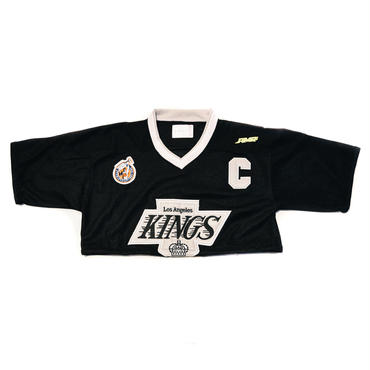 AMOUR HOCKY UNIFORM REMAKE CROP TOP / KINGS_BLACK