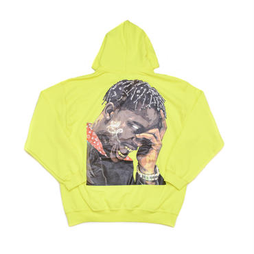 "ARABIA AMOUR PULLOVER HOODIE ""LA FLAME"" / SAFETY GREEN"