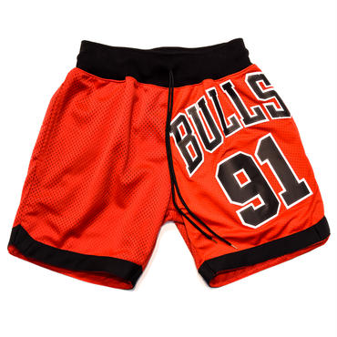 NBA UNIFORM REMAKE BASKET SHORTS / BULLS 91 / リメイク / バスケショーツ