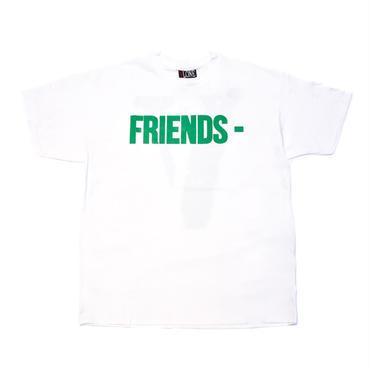 VLONE  FRIENDS TEE / WHITE_GREEN