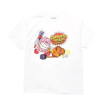 IMRAN POTATO CORRUPTED POTATO TEE / WHITE