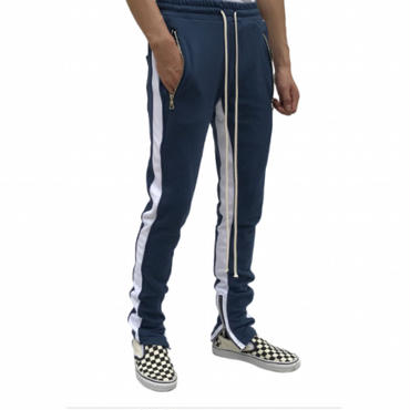 URKOOL Double Striped Track Pants / NAVY