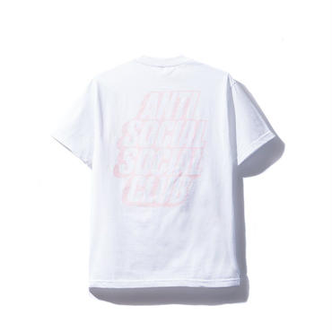 ANTI SOCIAL SOCIAL CLUB BLOCKED  TEE / WHITE_PINK