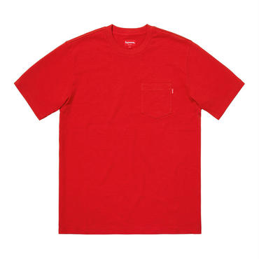 SUPREME  SS POCKET TEE / RED