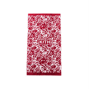 Kith x Coca-Cola Cubed Beach Towel / RED