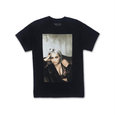 THE KYLIE SHOP Lace and Leather Tee