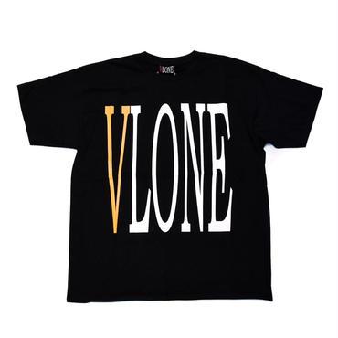 VLONE  LOGO TEE / BLACK_YELLOW