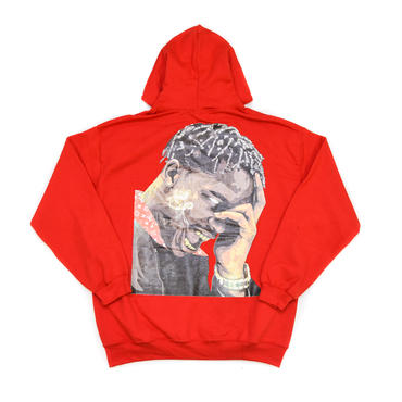 "ARABIA AMOUR ZIP HOODIE ""LA FLAME"" / RED"