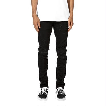 mnml M95  Stretch Track Denim / BLACK