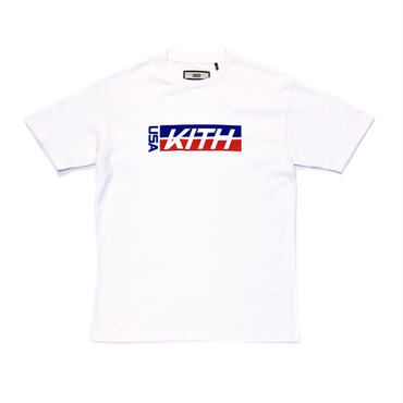 KITH  USA FACTORY TEAM TEE / WHITE