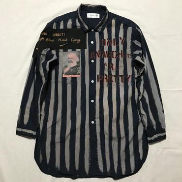 アナーキーシャツ ロング   ネイビーL 004