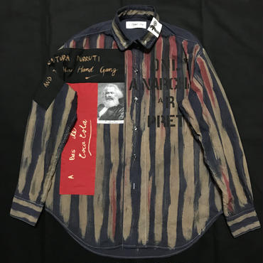 Newアナーキーシャツ メンズL  ディープブルー