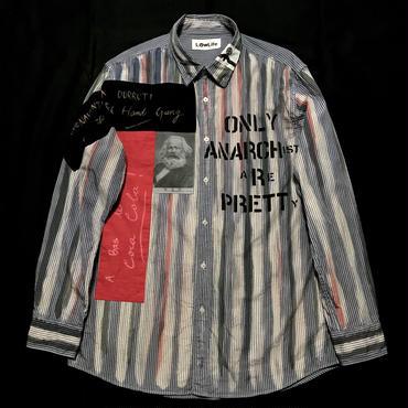 アナーキーシャツ メンズXL  ライトグレイ