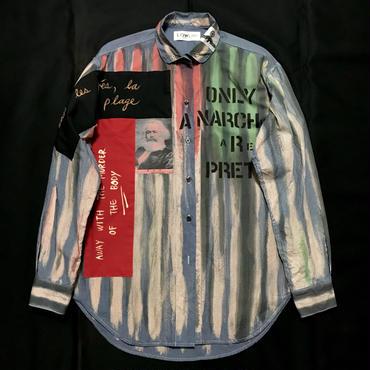 Newアナーキーシャツ メンズL  SBブルー