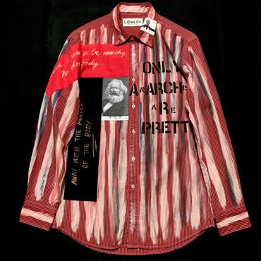 アナーキーシャツ メンズS  レッド