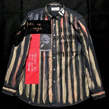 アナーキーシャツ メンズL ダークグレイ