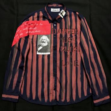 アナーキーシャツ レディースM-L ネイビー