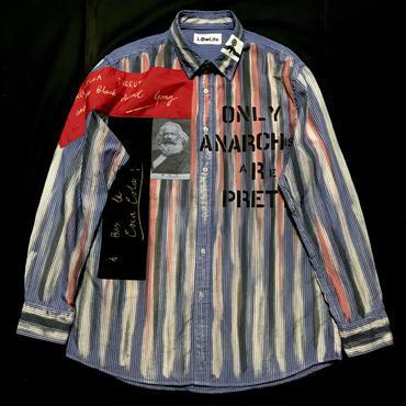 アナーキーシャツ メンズXL ブルー