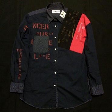アナーキーシャツ(ドット) ネイビーL