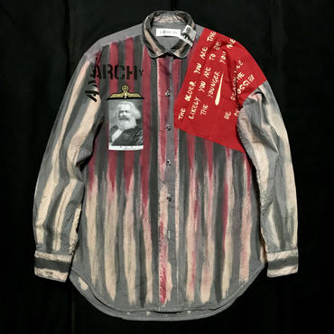 Newアナーキーシャツ メンズL  ジョニーグレイ