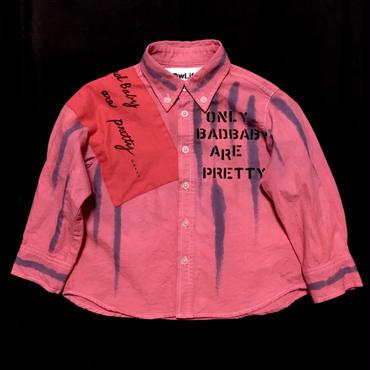 アナーキーシャツ BadBaby ピンク 80~90