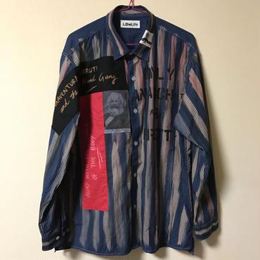 アナーキーシャツ メンズXL  ネイビー
