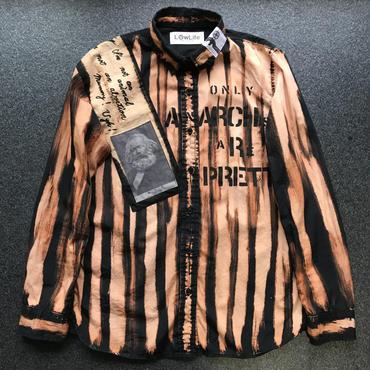 アナーキーシャツ レディースS   ブラック