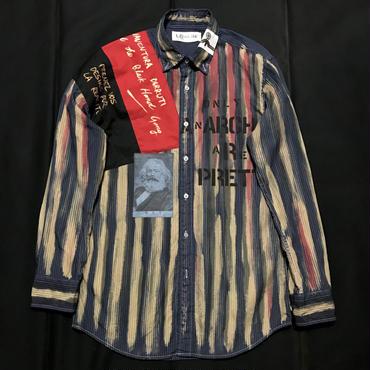 アナーキーシャツ メンズS    Dブルー