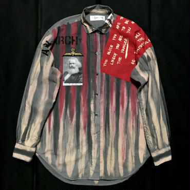 Newアナーキーシャツ メンズL  ジョニーグレイ2