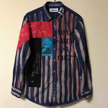 アナーキーシャツ メンズM ネイビー