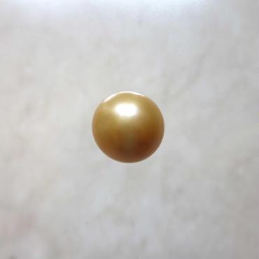 南洋白蝶真珠天然 ゴールド真珠 ドロップパール 12mm  A