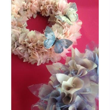Christmas wreath オーガンジーのリース