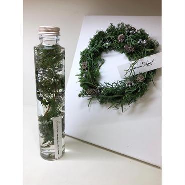 クリスマスギフトセット(ハーバリウム×ピクチャーリース)SV・11/20~お届け