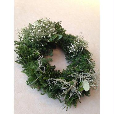 Christmas wreath エバーグリーンフレッシュリース