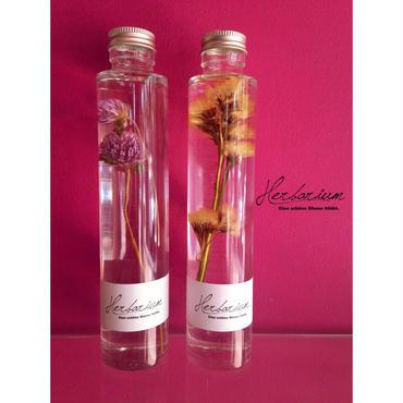 Herbarium(ハーバリウム)花の標本2本セット・千日紅×スターチス(BOX付)