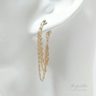 14kgf*Chain Earrings[Elegant]*