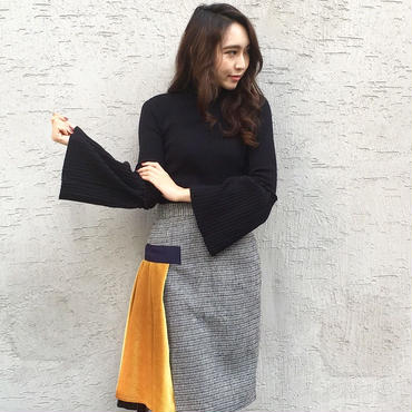 Flaresleeve Knit BLACK