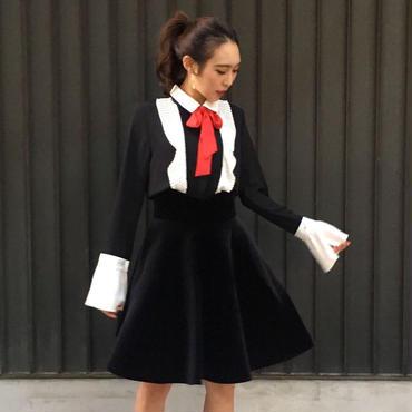 Ribbon Tie Blouse BLACK