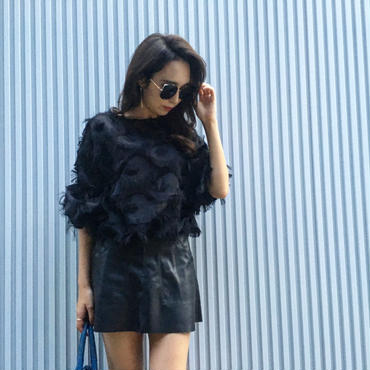 Fringe Blouse BLACK
