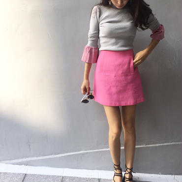 Flare Sleeve Knit GRAY